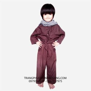Cho thuê trang phục biểu diễn áo bà ba trẻ em