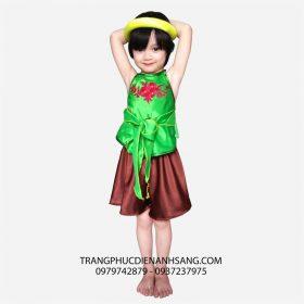 Cho thuê trang phục biểu diễn yếm đào váy đụp trẻ em