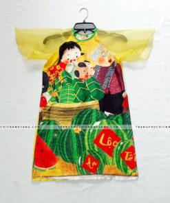 thuê áo dài trẻ em tphcm