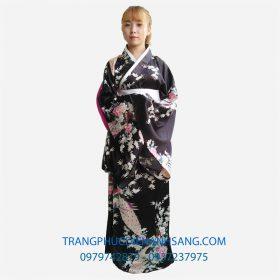 Mẫu quốc phục Kimono màu đen - Nhật Bản